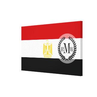 Klassische Flagge von Ägypten Leinwanddrucke