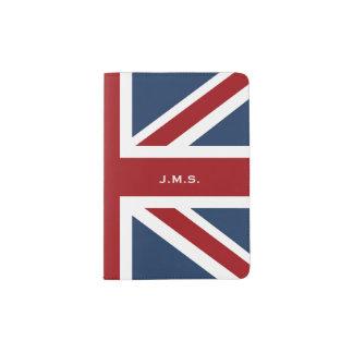 Klassische Gewerkschafts-Jack-Flagge mit Monogramm Passhülle