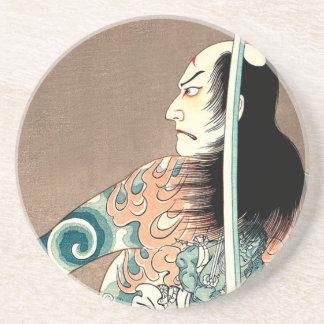 Klassische japanische legendäre sandstein untersetzer