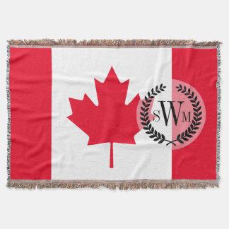 Klassische Kanada-Flagge Decke