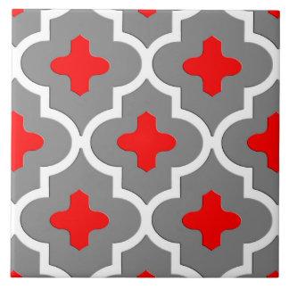 Klassische marokkanische Fliese, grau/Grau und Rot Fliese