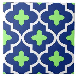 Klassische marokkanische Fliese, Kobalt-Blau und Keramikfliese