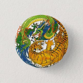Klassische Vintage orientalische Yin Yang Runder Button 3,2 Cm