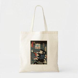 Klassische Vintage Ukiyo-e Kyudo Bogenschütze Tragetasche