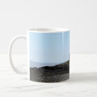 Klassische weiße Tasse FOTOGRAFIE der HÄUSER AUF