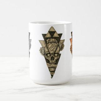 """Klassischer Becher """"Totenkopf Pyramide """" Tasse"""