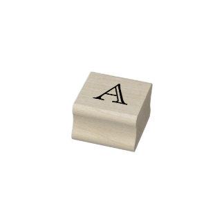 Klassischer Monogramm-Buchstabe eine 1 Gummistempel