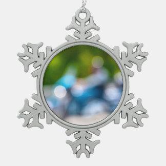 klassischer Reiter Schneeflocken Zinn-Ornament