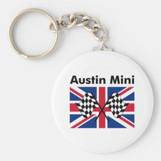 Klassisches Austin Mini Standard Runder Schlüsselanhänger