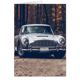 Klassisches Auto Vintages retro, Silber Karte