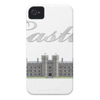 Klassisches britisches Schloss mit Schloss-Text iPhone 4 Case-Mate Hülle