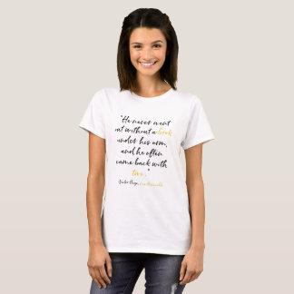Klassisches Buch-Zitat Victor Hugo Les Miserables T-Shirt