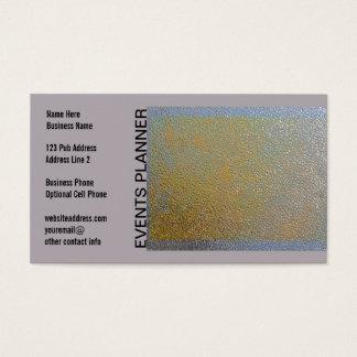 Klassisches Goldsilber-glänzender Visitenkarten