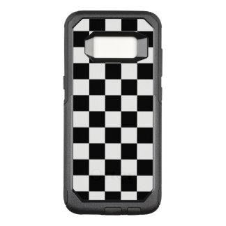 Klassisches kariertes Schwarzweiss-Muster OtterBox Commuter Samsung Galaxy S8 Hülle