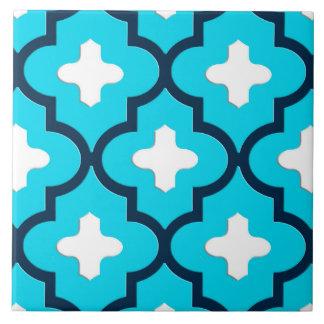 Klassisches marokkanisches Fliesen-, Indigo-und Große Quadratische Fliese