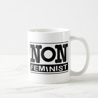Klassisches nicht-Feministisches Logo Kaffeetasse