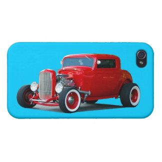 Klassisches Rot - frisiertes Auto Auto iPhone 4 Schutzhüllen