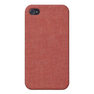 Klassisches rotes Denim-Speck-Kasten iPhone 4 iPhone 4 Etui