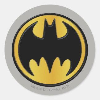 Klassisches rundes Logo Batman-Symbol-| Runder Aufkleber