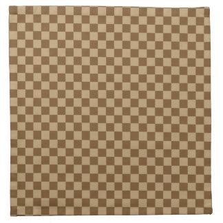 Klassisches Schachbrett Browns durch Shirley Serviette