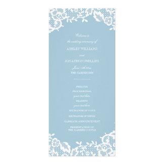 Klassisches Spitze-Hochzeits-Programm Werbekarte
