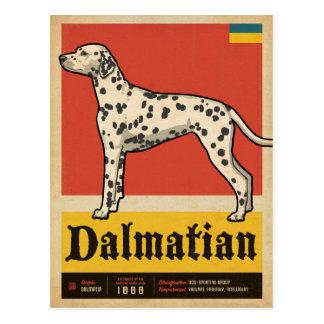 Klassisches Vintages Dalmation Postkarte