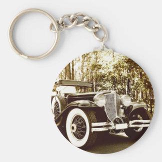 Klassisches Vintages Sepia-Auto Schlüsselanhänger