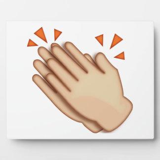 Klatschende Hände - Emoji Fotoplatte