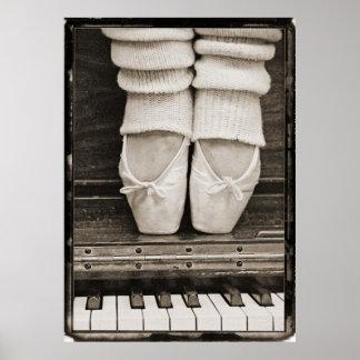 Klavier-Ballett-Duo groß Poster
