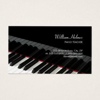 Klavier befestigt Musikindustriekarte Visitenkarten