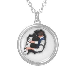 Klavier-Sänger Versilberte Kette