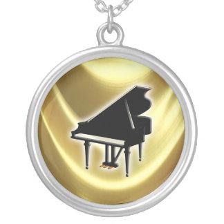 Klavier-Tastatur Halskette Mit Rundem Anhänger