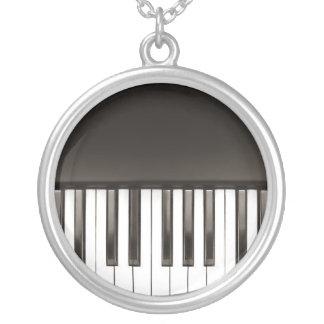 Klavier-Tastaturhalskette Versilberte Kette