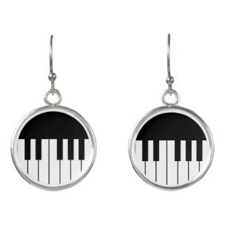 Klavier-Tastenhub-Ohrringe Ohrringe