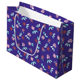 Klee-Blumen-große glatte Geschenk-Tasche Große Geschenktüte