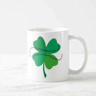 Kleeblatt mit irischem Toast Tasse
