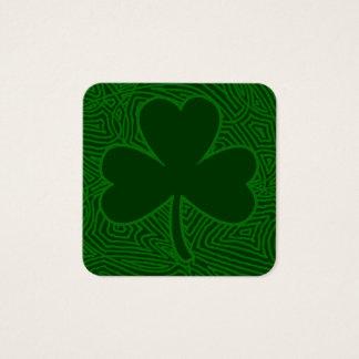 Kleeblatt-St Patrick Tag Quadratische Visitenkarte