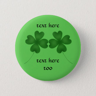Kleeblätter St. Patricks Runder Button 5,1 Cm