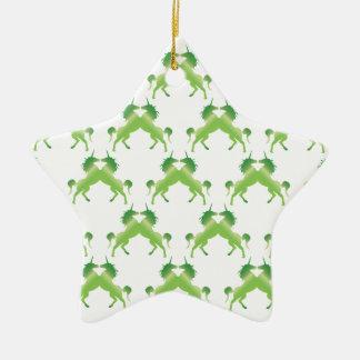 KleeblattUnicorns Keramik Stern-Ornament