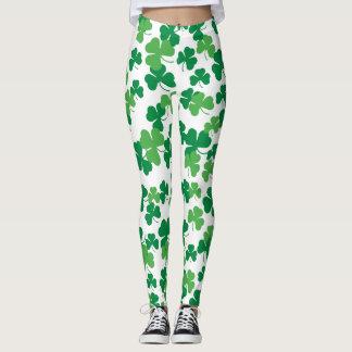 Kleemuster St. Patricks Tages Leggings