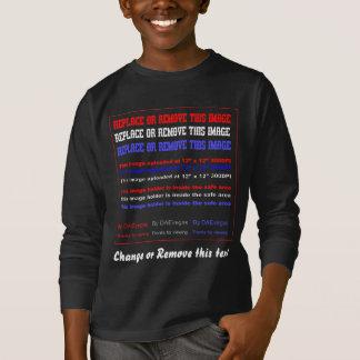 Kleiderdunkelheit nur irgendeine Kinderfront T-Shirt