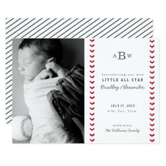 Kleine All-Star- Geburts-Mitteilung 12,7 X 17,8 Cm Einladungskarte