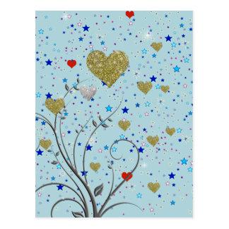 kleine empfindliche Herzen Postkarte
