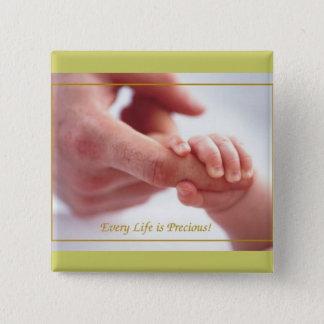 Kleine Hände… Quadratischer Button 5,1 Cm
