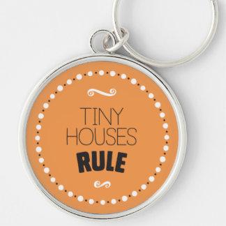 Kleine Haus-Regel Keychain - Editable Hintergrund Schlüsselanhänger