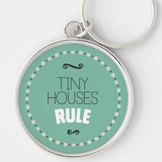Kleine Haus-Regel Keychain - Grün Schlüsselanhänger