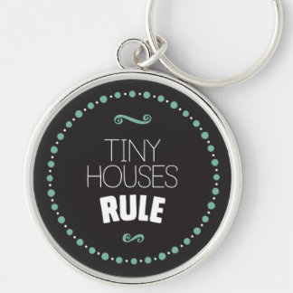 Kleine Haus-Regel Keychain - Schwarzes Schlüsselanhänger