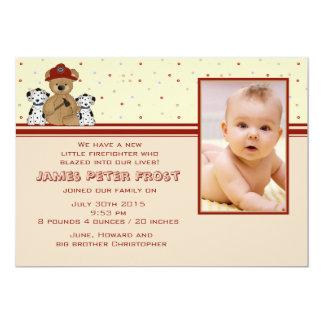 Kleine Held-Foto-Geburts-Mitteilung 12,7 X 17,8 Cm Einladungskarte