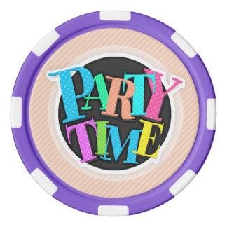 Kleine korallenrote rosa diagonale Streifen Poker Jetons