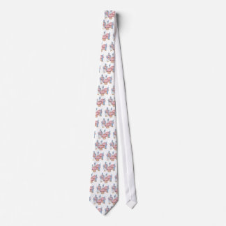 Kleine Kuchen und Gnomes, rosa Zuckerglasur, Kunst Personalisierte Krawatte